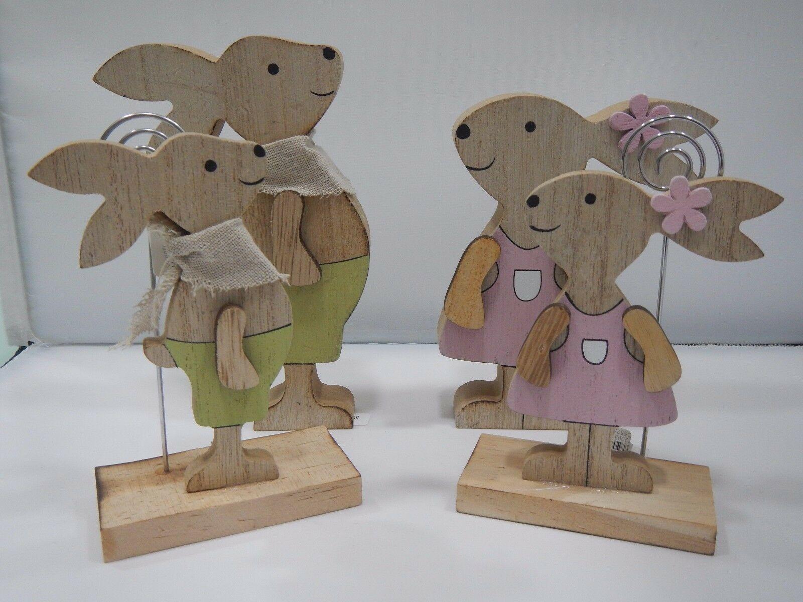 Cuorematto Famiglia coniglietti in legno D5522 D5521 D5524 D5523