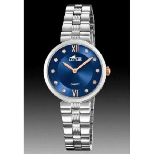 Orologio Solo Tempo donna Lotus acciaio con quadrante blu 18541/4