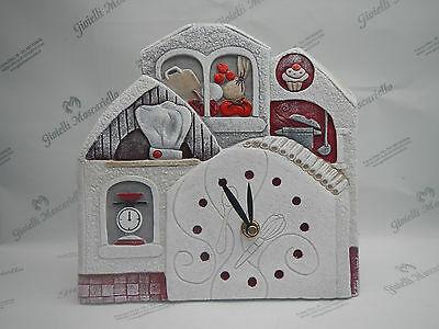 Orologio Cartapietra da tavolo/parete cod. 422142RO Collezione Millesapori