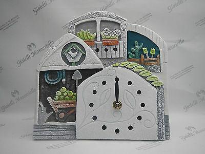 Orologio Cartapietra da tavolo/parete cod. 422141VE Collezione Polliceverde