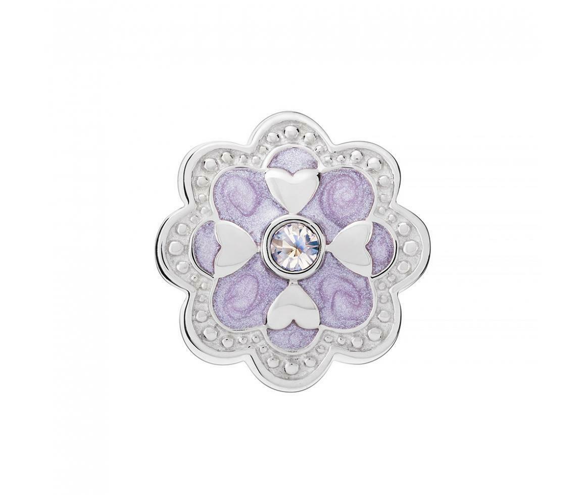Chamilia Charm in argento 925 Carezza lavanda con Swarovski bianchi 2025-2216
