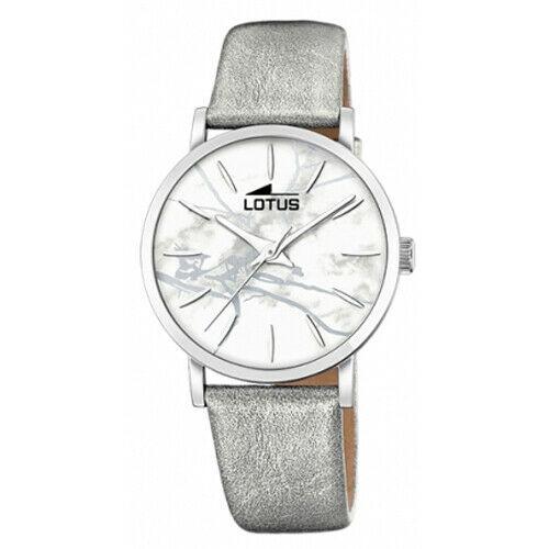 Orologio Solo Tempo Donna Lotus con cinturino in pelle argento 18667/1