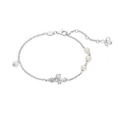 Bracciale donna Gioielli Comete Farfalle con zirconi bianchi BRA167