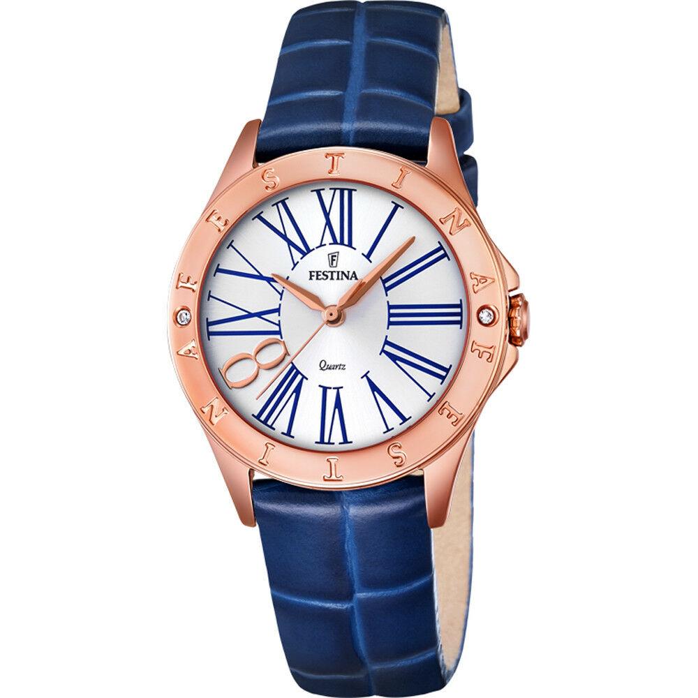 Festina Orologio donna con cinturino in pelle blu F16930/1