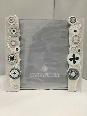 Portafoto Cartapietra Eclettica Verde in bassorilievo cod. R182444VE