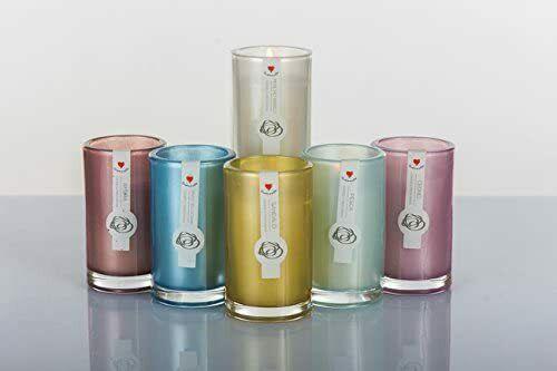 Candele profumate Cuorematto con profumazione assortite 6h cm D5604