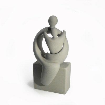 Maternità, scultura in grès porcellanato Lineasette cod. S676A Made In Italy