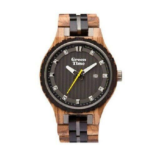 Orologio uomo in legno ulivo ed Ebano Green Time ZW107A