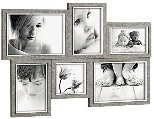 Mascagni Portafoto  multiplo in legno per 6 foto vari formati A1125