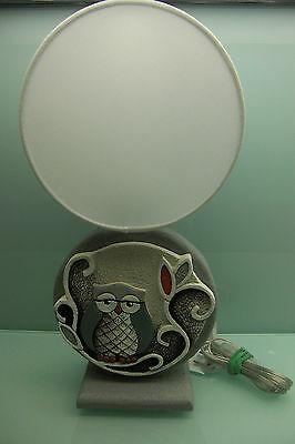 Lampada Cartapietra in bassorilievo con scultura gufo cod. L422224