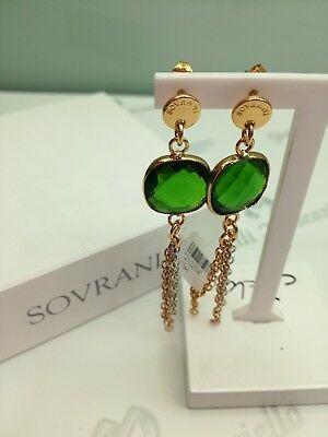 Orecchini pendenti donna Sovrani Cristal Magique con cristalli verdi J1948