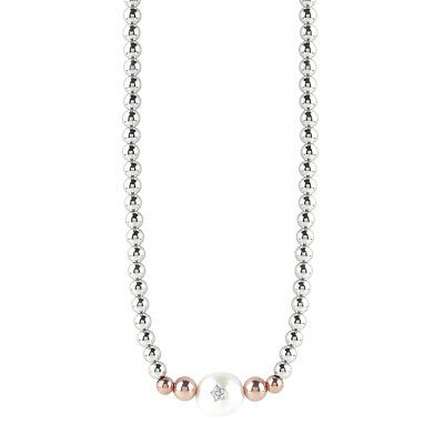 Collana donna con sfere in ematite silver Bliss Oceania cod. 20077682 LISTINO 49