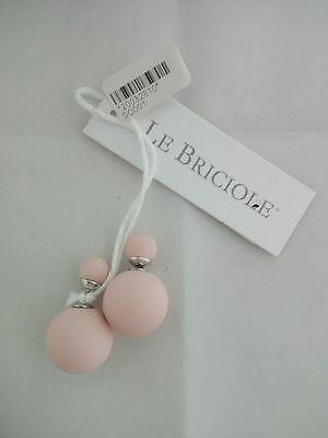Orecchino Le Briciole con doppia sfera rosa cod. SO001