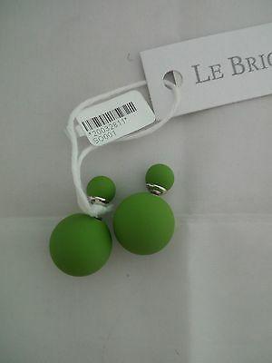 Orecchini Le Briciole con doppia sfera verde cod. SO001