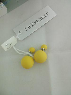 Orecchini Le Briciole con doppia sfera giallo cod. SO001