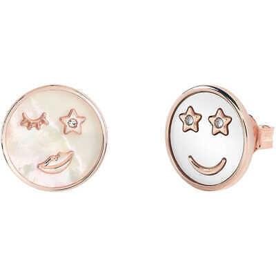 Orecchini donna in bronzo rosè e madreperla bianca Bliss Emoji 20085234