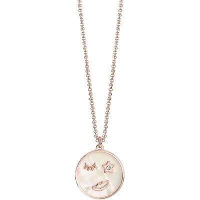 Collana donna in bronzo rosè e madreperla bianca Bliss Emoji 20085232