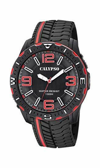 Orologio solo tempo uomo  Calypso con cinturino in gomma K5762/5 LISTINO 39