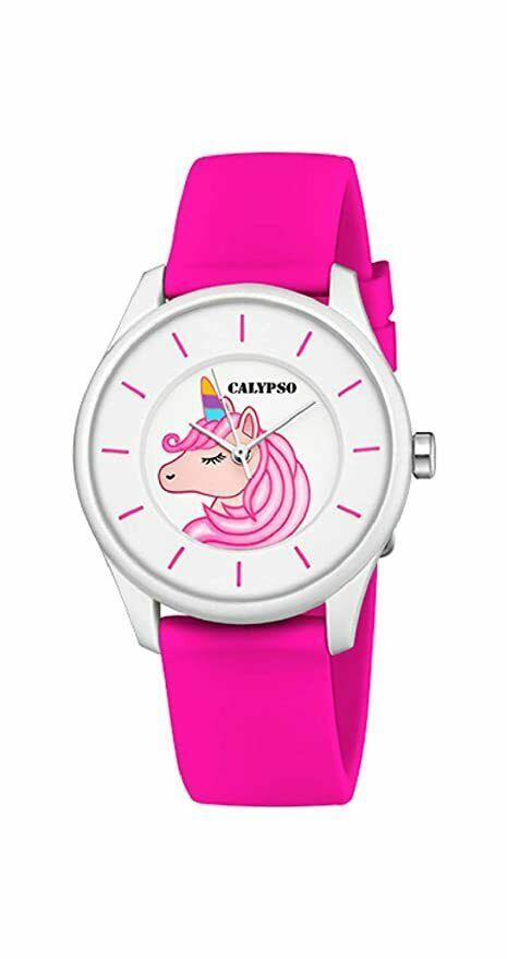 Orologio con unicorno Calypso cinturino in gomma fucsia K5733/D