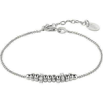 Bracciale donna in argento rodio bianco con rondelle Bliss Coccole 20077632