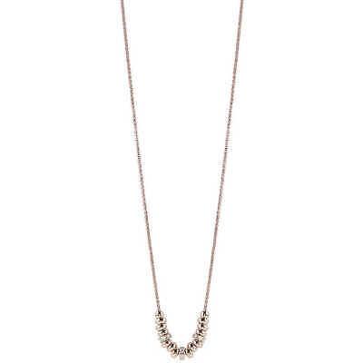 Collana donna in argento rodio rosè con rondelle Bliss Coccole 20077633