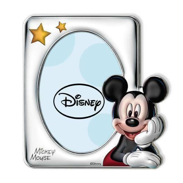 Cornice Portafoto Disney  Mickey Mouse dea regalo Battesimo/compleanno D238 4LC