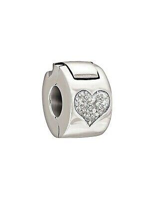 Chamilia Charm Heart Luck con cuore glitterato in argento 925 1430-0008