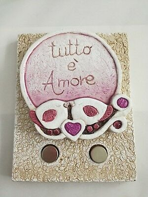 Appendichiavi magnetico Cartapietra Tutto è amore cod. 20001411c1314
