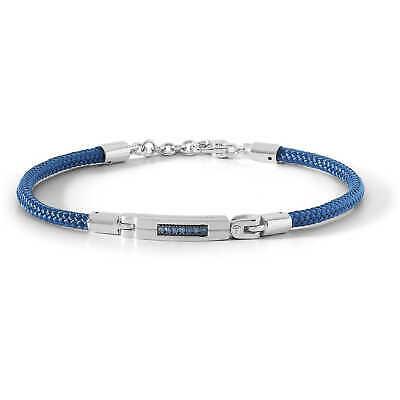Bracciale uomo Comete gioielli in argento e cordino blu ubr838 Collezione vela