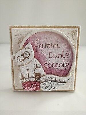 Formella da tavolo/parete Cartapietra Fammi tante coccole cod. 20001411c1314