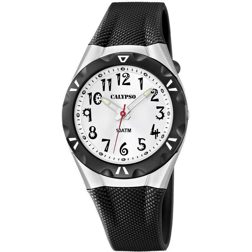 Orologio solo tempo donna Calypso con cinturino in gomma nero K6064/2 LISTINO 29