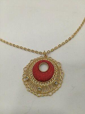 Collana donna Byblos cod. 9315 con ciondolo rosso e cristalli
