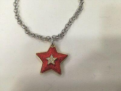 Bracciale donna Osa cod. 9819 con ciondolo stella rosso con strass