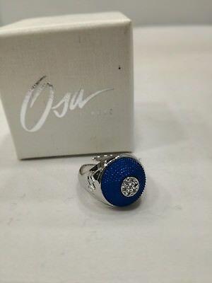 Anello donna Osa cod. 9808  blu con strass misura 17/18