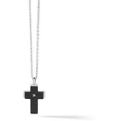 Collana Uomo con croce Gioielli Comete in acciaio con croce UGL636