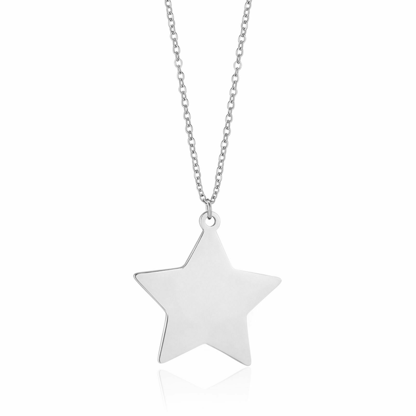 Collana donna lunga in acciaio con ciondolo stella grande Luca Barra CK1308