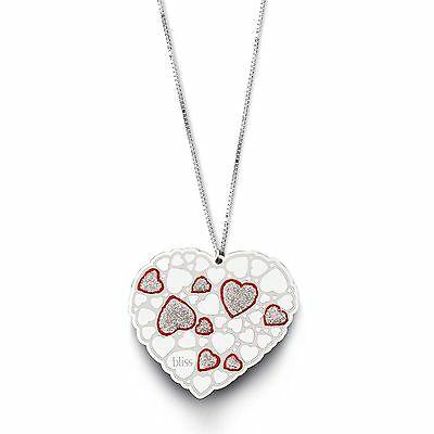 Collana donna gioielli Bliss Onelove casual con ciondolo cuore glitterato 20072850