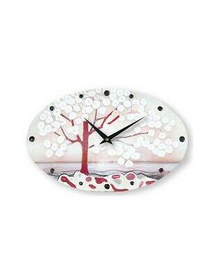 Cartapietra Orologio Ovale La Prima Luce Rosa 40 x 25 cm 435107RA
