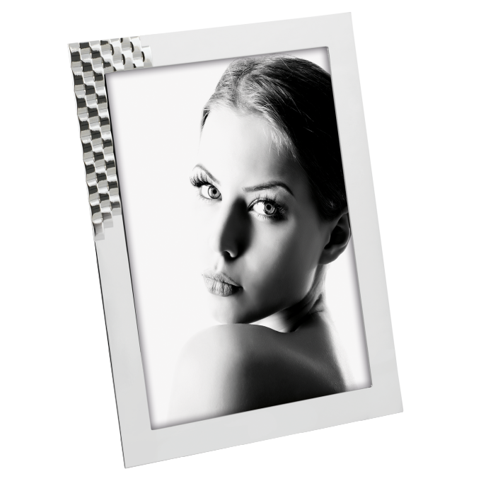 Cornice portafoto in silver Mascagni per foto 13x18 cm  A1058