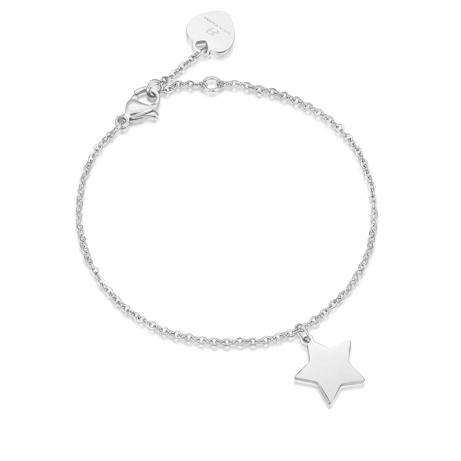 Bracciale donna Luca Barra con ciondolo stella  in acciaio BK1672