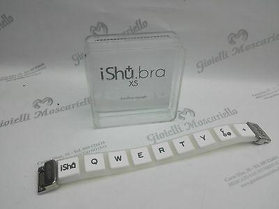 Bracciale Design Ishu.Bra Trasparente/Bianco Misura XS