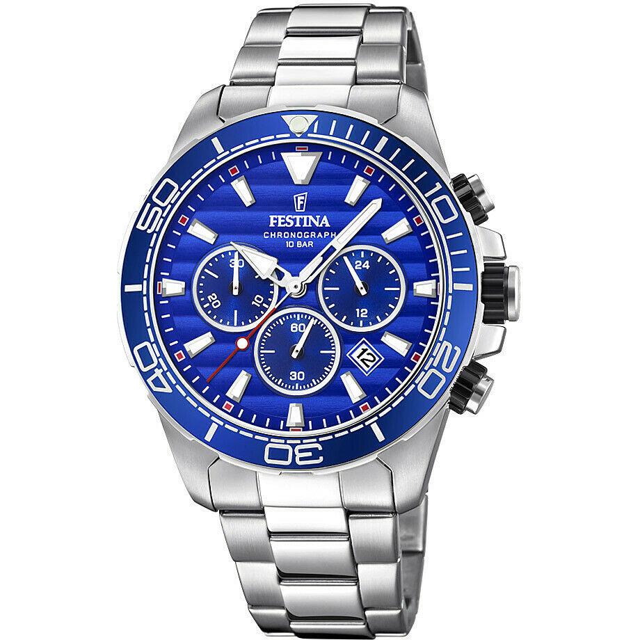 Orologio Cronografo Uomo Festina Prestige quadrante azzurro F20361/2