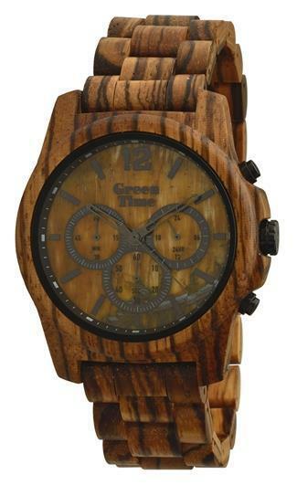 Orologio da polso uomo in legno Green Time Stone ZW084C