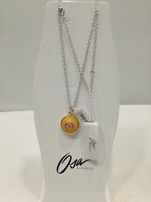 Collana donna Osa cod. 9806  ciondolo giallo con strass