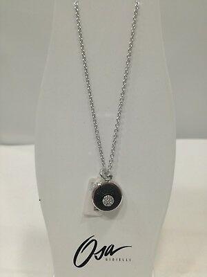 Collana donna Osa cod. 9806  ciondolo nero con strass