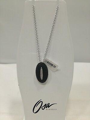 Collana donna Osa cod. 9803  ciondolo nero con strass