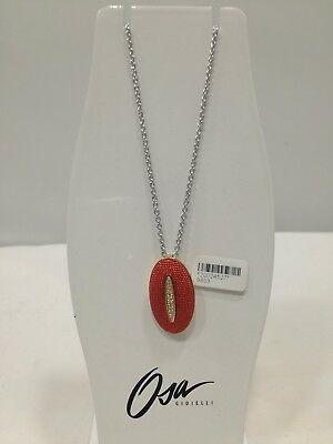 Collana donna Osa cod. 9803  ciondolo rosso con strass