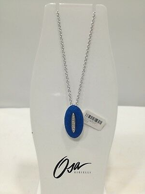 Collana donna Osa cod. 9803  ciondolo blu con strass