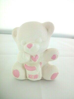 Orsetto in porcellana Capodimonte Alexia Baby Rosa 8032/1r