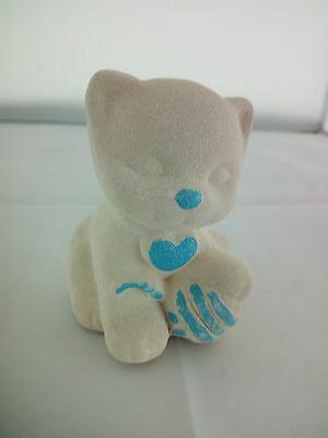 Gatto in porcellana Capodimonte Alexia Baby Celeste 8032/3c